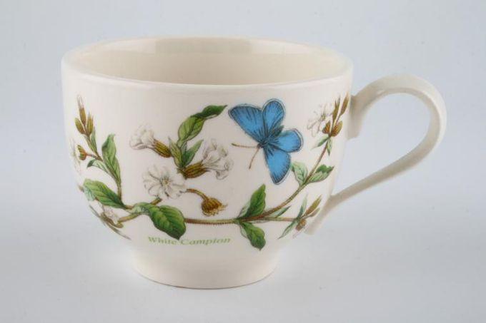 """Portmeirion Botanic Garden Teacup Romantic shape - Silene Alba - White Campion - named 3 1/2 x 2 5/8"""""""