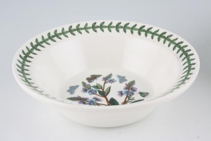 "Portmeirion Botanic Garden Rimmed Bowl Veronica Chamaedrys - Speedwell 6 1/2"""
