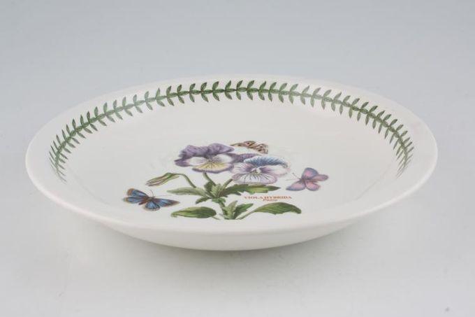 "Portmeirion Botanic Garden Pasta Bowl Viola Hybrida - Pansy - Named - Rimmed 9"""