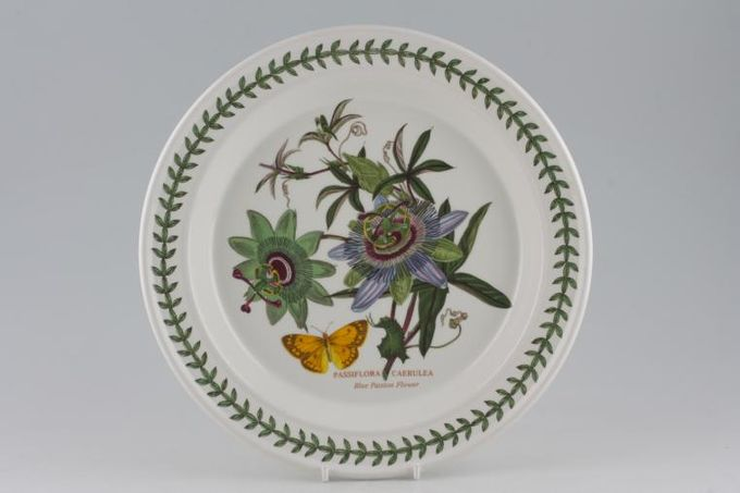 "Portmeirion Botanic Garden Dinner Plate Passiflora Caerulea - Blue Passion Flower 10 1/2"""