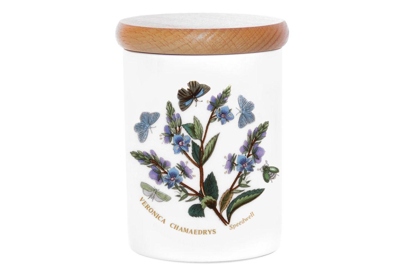 "Portmeirion Botanic Garden Storage Jar + Lid Speedwell 3 1/4 x 4"" thumb 1"