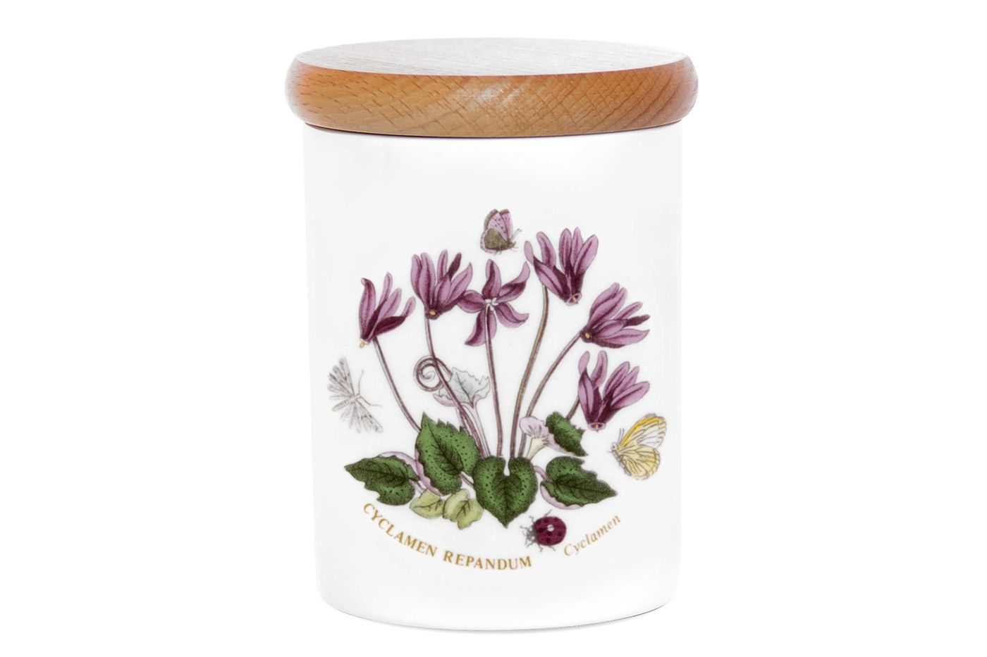 "Portmeirion Botanic Garden Storage Jar + Lid Cyclamen 3 1/4 x 4"" thumb 1"