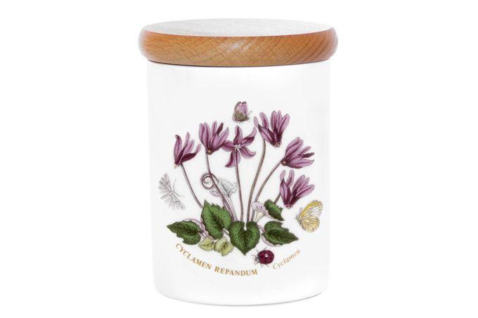 """Portmeirion Botanic Garden Storage Jar + Lid Cyclamen 3 1/4 x 4"""""""