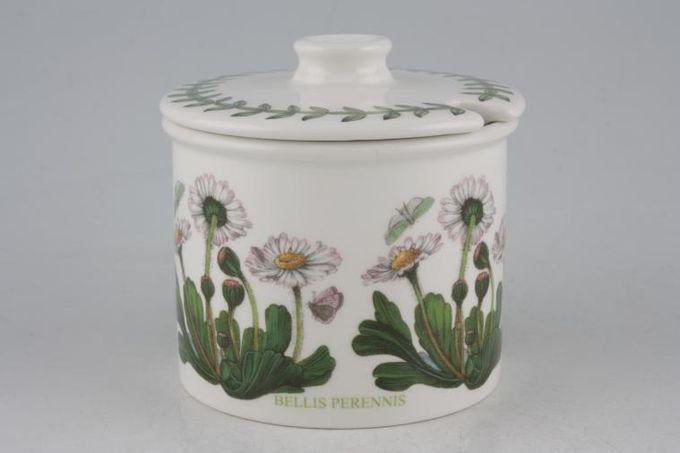 Portmeirion Botanic Garden Jam Pot + Lid Bellis Perennis - Daisy