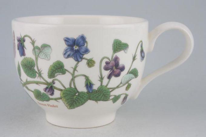 "Portmeirion Botanic Garden Teacup Romantic shape - Viola Odorata - Sweet Violet - named 3 1/2 x 2 5/8"""