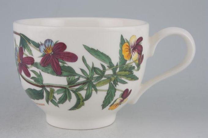 "Portmeirion Botanic Garden Teacup Romantic shape - Viola Tricolor - Heartsease 3 1/2 x 2 5/8"""