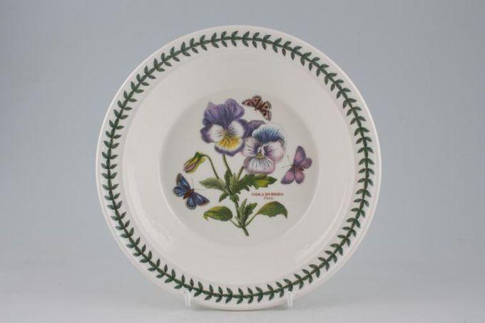 "Portmeirion Botanic Garden Rimmed Bowl Viola Hybrida - Pansy 8 1/2"""
