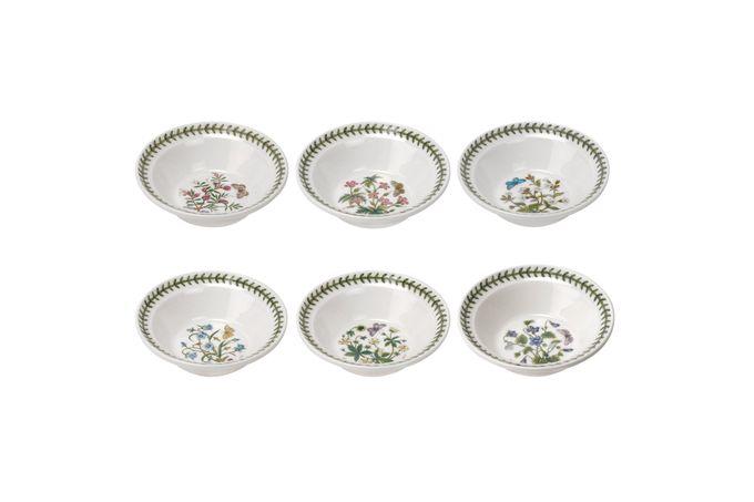 """Portmeirion Botanic Garden Soup / Cereal Bowl - Set of 6 Set of 6 Lavender, Cinquefoil, Herb Robert, Harebell, Sweet Violet, White Campion 6 1/2"""""""
