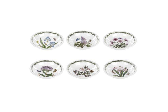 Portmeirion Botanic Garden Pasta Bowl Set of 6 Set of 6 Treasure Flower, Iris, Sweet William, Garden Lilac, Dog Rose, Belladonna