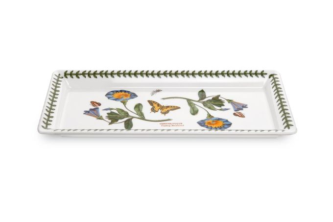 "Portmeirion Botanic Garden Sandwich Tray Convolvulus - Trailing Bindweed. 11 3/4 x 5 1/4"""