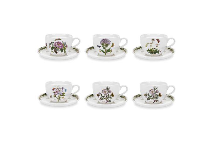 Portmeirion Botanic Garden Jumbo Cup & Saucer - Set of 6 Set of 6 20oz