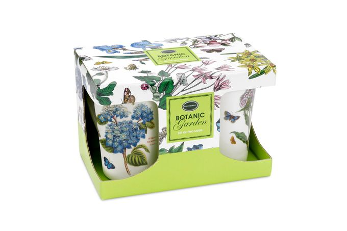 Portmeirion Botanic Garden Mug Set Boxed Set of 2 10oz