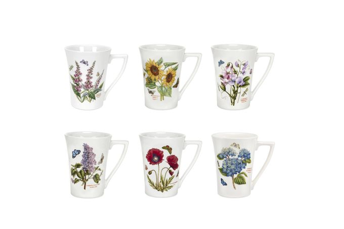 Portmeirion Botanic Garden Mug - Set of 6 Set of 6 - Mandarin Shape 10oz