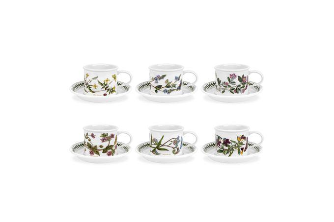 Portmeirion Botanic Garden Coffee Cup & Saucer - Set of 6 Set of 6 3.5oz