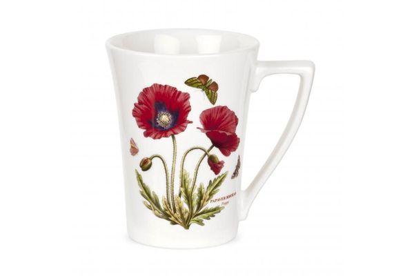 Portmeirion Botanic Garden Mug Tall, Poppy - Mandarin Shape 0.28l