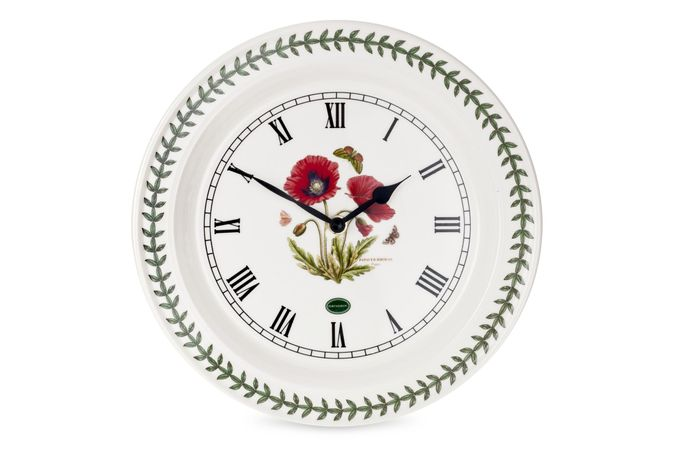 Portmeirion Botanic Garden Wall Clock Poppy