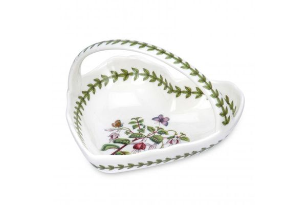 Portmeirion Botanic Garden Serving Dish Small Heart Shape Basket