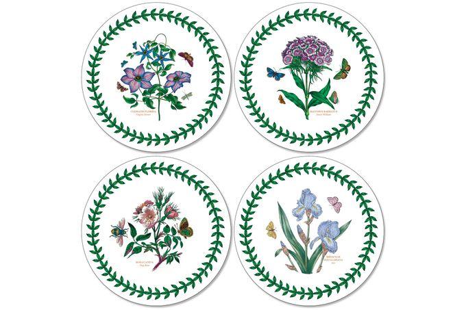 Portmeirion Botanic Garden Coasters - Set of 4 Round 10.5cm