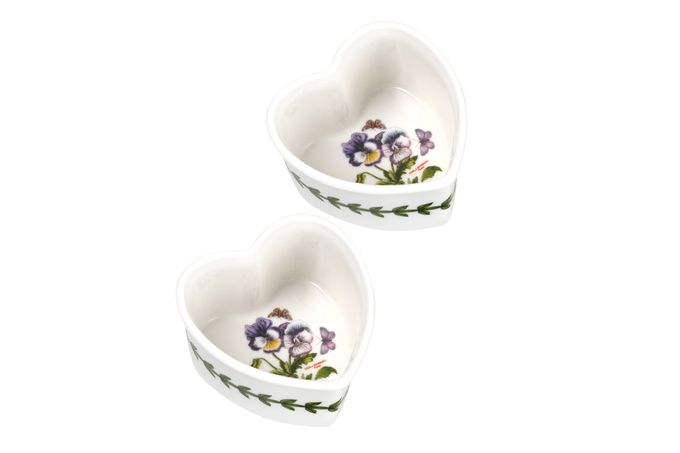 Portmeirion Botanic Garden Ramekin Heart - Set of 2
