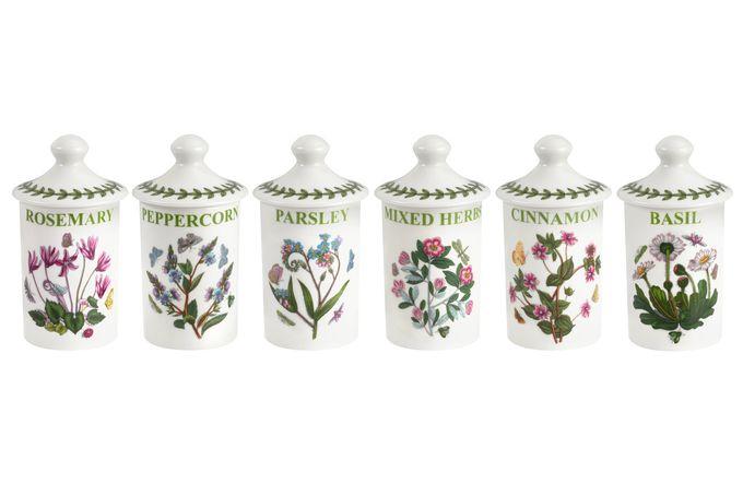 Portmeirion Botanic Garden Herb and Spice Jars Set of 6