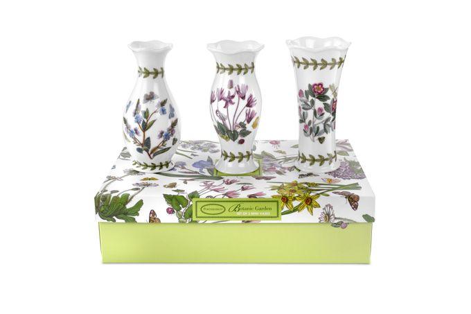 Portmeirion Botanic Garden Vase Set of 3 Mini Vases