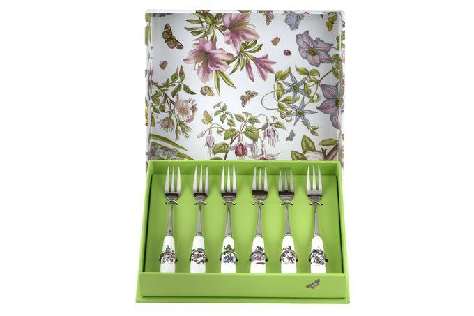 Portmeirion Botanic Garden Pastry Fork Set Set of 6