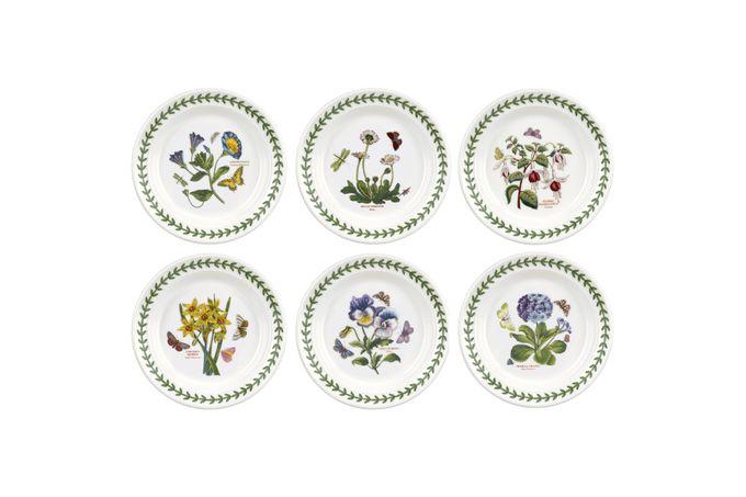 """Portmeirion Botanic Garden Tea / Side / Bread & Butter Plates - Set of 6 Set of 6 6 1/2"""""""