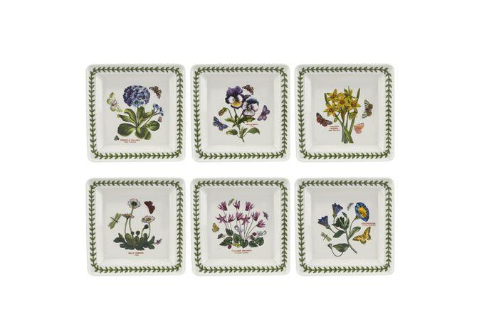 "Portmeirion Botanic Garden Square Plate - Set of 6 7"""