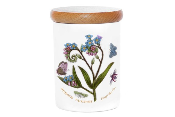 Portmeirion Botanic Garden Storage Jar + Lid Forget me Not 10cm