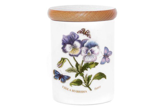 Portmeirion Botanic Garden Storage Jar + Lid Pansy 10cm