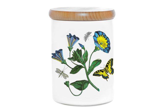 "Portmeirion Botanic Garden Storage Jar + Lid Convolvulus 3 3/4 x 5"""