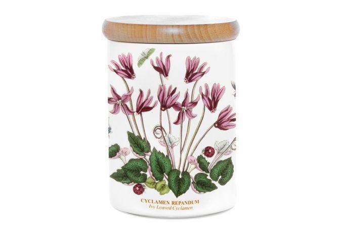 """Portmeirion Botanic Garden Storage Jar + Lid Cyclamen 3 3/4 x 5"""""""