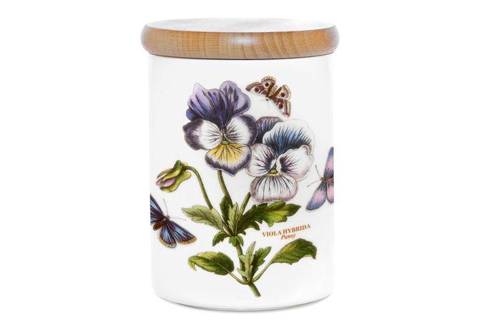 "Portmeirion Botanic Garden Storage Jar + Lid Pansy 3 3/4 x 5"""