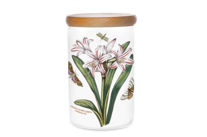 """Portmeirion Botanic Garden Storage Jar + Lid Belladonna Lily 4 1/4 x 6 1/4"""""""