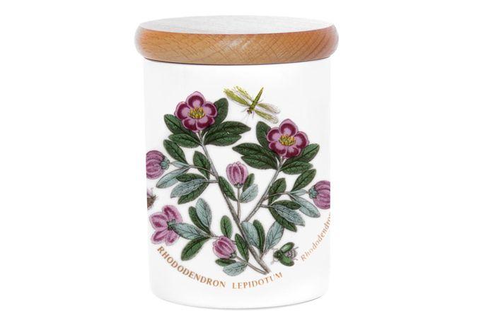 """Portmeirion Botanic Garden Storage Jar + Lid Rhododendron 3 1/4 x 4"""""""
