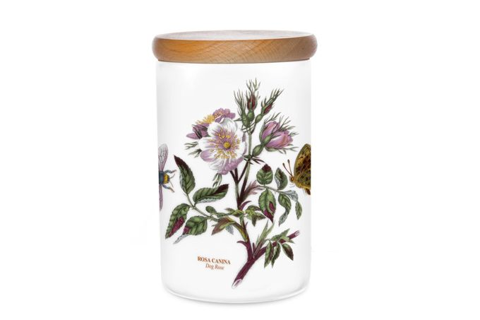 Portmeirion Botanic Garden Storage Jar + Lid Dog Rose