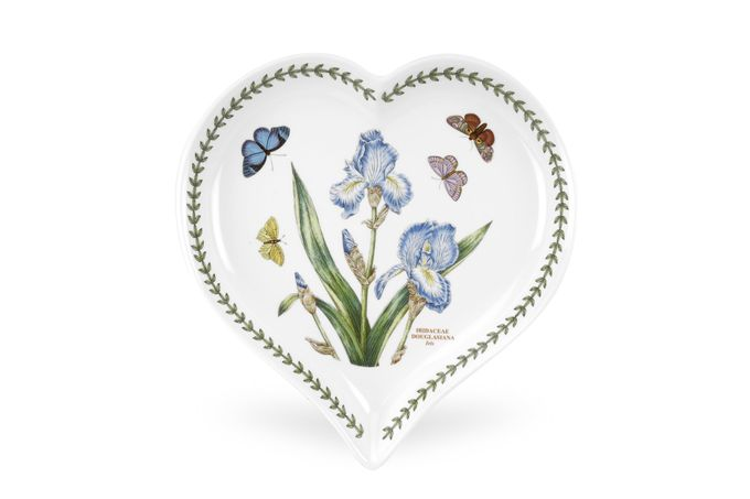 Portmeirion Botanic Garden Heart Dish Iris 23 x 20cm