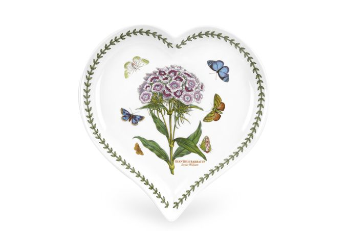 Portmeirion Botanic Garden Heart Dish Sweet William 23 x 20cm