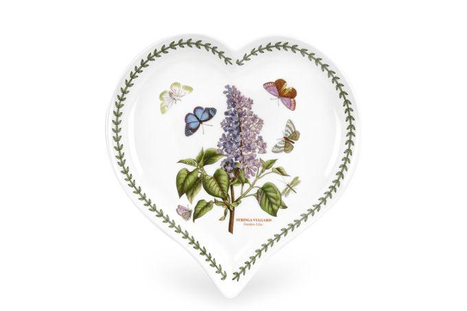Portmeirion Botanic Garden Heart Dish Lilac 23 x 20cm