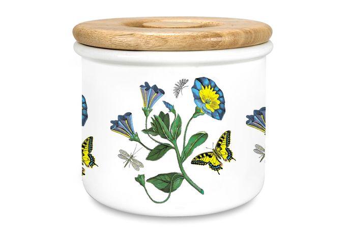 "Portmeirion Botanic Garden Storage Jar + Lid Convolvulus 7 x 6"""
