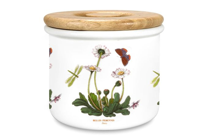 "Portmeirion Botanic Garden Storage Jar + Lid Daisy 7 x 6"""
