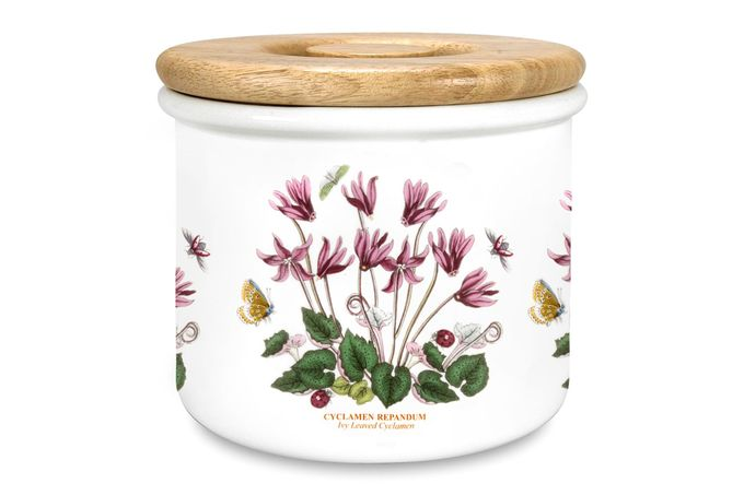 """Portmeirion Botanic Garden Storage Jar + Lid Cyclamen 7 x 6"""""""