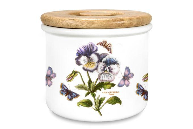 "Portmeirion Botanic Garden Storage Jar + Lid Pansy 7 x 6"""