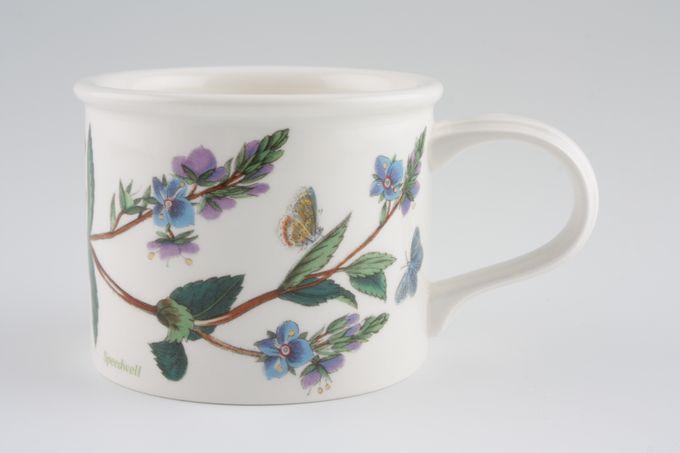 "Portmeirion Botanic Garden Teacup Drum shape - Veronica Chamaedrys -Speedwell - named 3 1/4 x 2 5/8"""