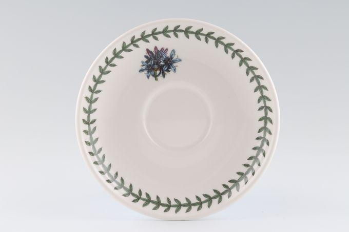 "Portmeirion Botanic Garden Tea Saucer Romantic Shape - Lily 6"""
