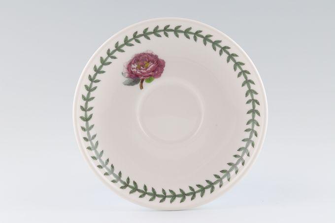 "Portmeirion Botanic Garden Tea Saucer Romantic Shape - Peony 6"""