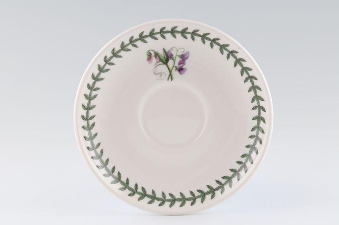 "Portmeirion Botanic Garden Tea Saucer Romantic Shape - Sweet Pea 6"""