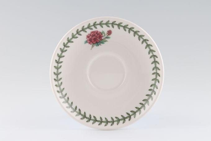 """Portmeirion Botanic Garden Tea Saucer Romantic Shape - Rhodedendron 6"""""""