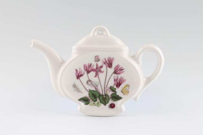 Portmeirion Botanic Garden Spoon Rest  Teapot Shape - Cyclamen Repandum - Ivy Leaved Cyclamen