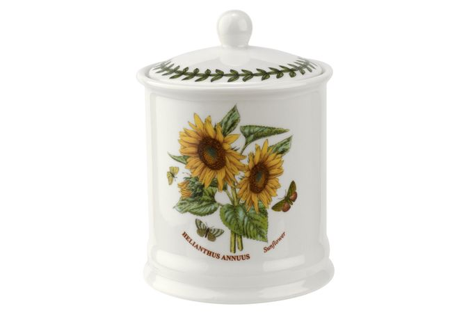 Portmeirion Botanic Garden Storage Jar + Lid Sunflower 4 x 5 3/4""